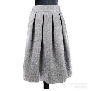 Anthropologie Comme Toi Wool Blend Skirt L Blue